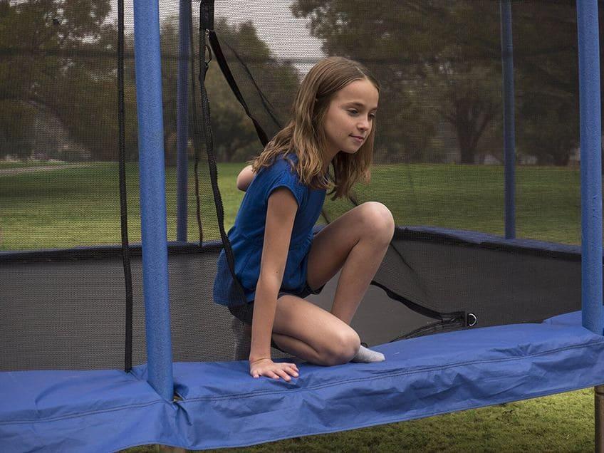 Trampolín decathlon para niños con red protectora oferta