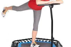 cama elástica con manillar para jumping fitness y perder peso