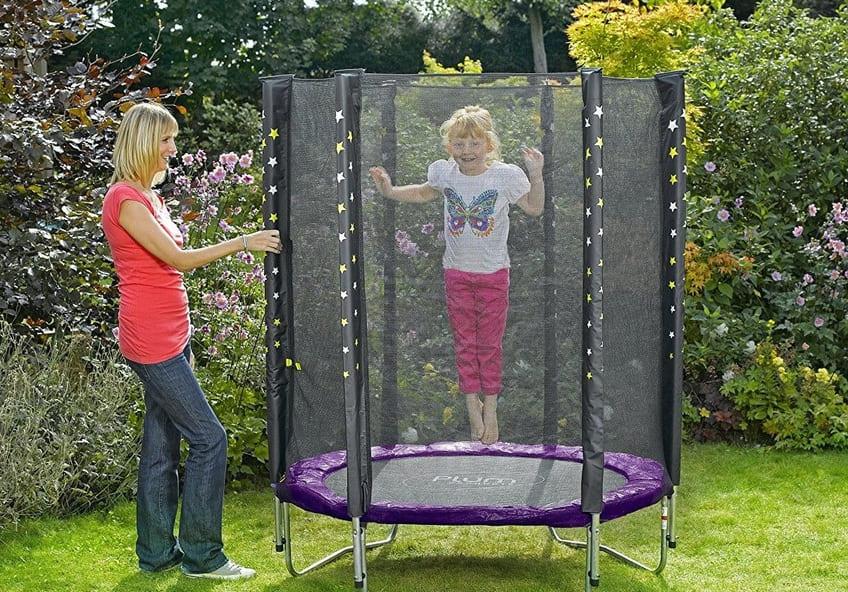 trampolin infantil con red y acolchado al mejor precio