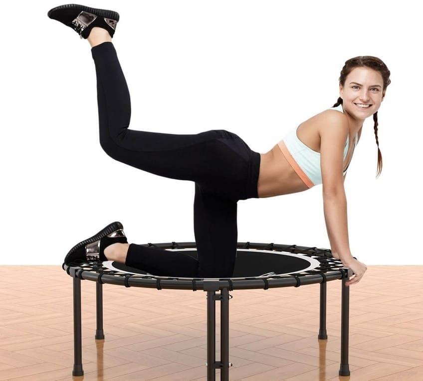 Cama elástica gimnasio sport oferta seis patas sin manillar con cuerdas bungee y trampolin individual para ejercicio precio